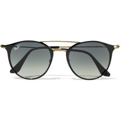 Ray-Ban Ray-Ban - Round-frame Acetate And Gold-tone Sunglasses - Black Ray Ban Round Sunglasses, Cheap Sunglasses, Black Sunglasses, Sunglasses Women, Sunglasses Online, Ray Ban Eyewear, Discount Ray Bans, Round Ray Bans, Ray Ban Glasses