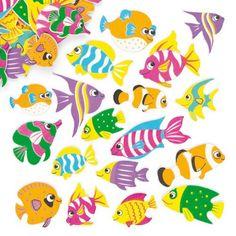 Samolepky z pěnovky - rybičky