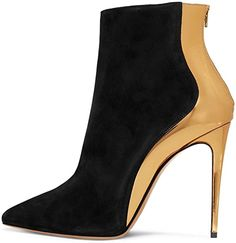FSJ Women Fashion High Heel Ankle Boots with Rivets Pointed Toe Stilettos Zipper Shoes Size US Stilettos, High Heels, Pumps, Sofft Shoes, Women's Shoes, Shoe Sole Protector, Stylish Boots, Ankle Booties, Toe