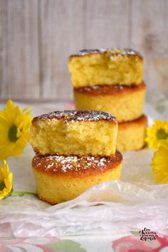 Mini cakes goat-zucchini and ricotta-spinach - Clean Eating Snacks Pan Dulce, Sweet Recipes, Cake Recipes, Dessert Recipes, Gourmet Desserts, Plated Desserts, Cooking Time, Cooking Recipes, Savoury Cake