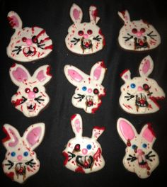 The Hopping Dead! Zombie Easter Bunny Cookies