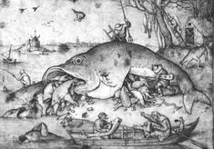 Big fishes eat small fishes, 1556, Pieter Bruegel the Elder - WikiArt.org