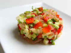 Recette Ceviche vegetarien aux suprêmes de pamplemousse, par Leyin - Ptitchef
