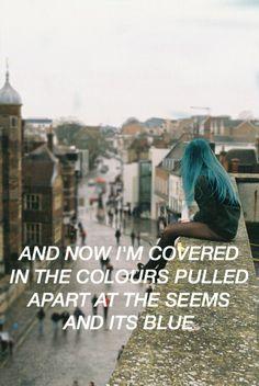 Colours // Halsey // Made by @hoodslyricart (Twitter)