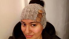 Gorro (Abierto para sacar el pelo) a Crochet(ganchillo) Boina De Ganchillo 15e3952d218