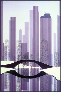 Central Park- 1983 - Eyvind Earle - WikiPaintings.org