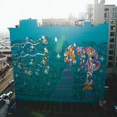 foster the people mural increible!