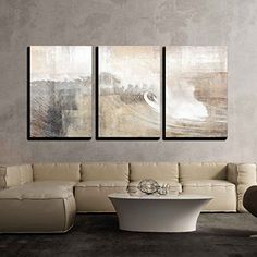 3 Piece Canvas Wall Art Abstract Huge Wave Composition Modern Home Decor Stretched and Framed Ready to Hang Panels >>> See this great product. (This is an affiliate link) Abstract Canvas Wall Art, Wall Canvas, Painting Canvas, Painting Abstract, Fish Wall Art, Grey Art, Home Wall Decor, Wall Art Designs, Home Art