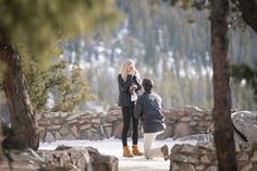 Emotional Candid Photos of Proposal in the Colorado Mountains with a Hidden photographer