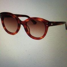 HostPick  Lacoste Round tortoise sunglasses Brand new, comes with case Lacoste Accessories Sunglasses