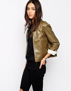 Parka London Elodie Leather Jacket