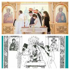 "Just observed that one of my wedding pictures looks like the cover of the book ""Marriage as a path to holiness""!  #orthodox #orthodoxy #marriage #matrimony #love #book #pravoslavie"