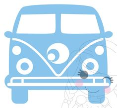 Vw Bus Volkswagen, Vw Bus, Art Projects, Projects To Try, February Baby, Silhouette Curio, Freebies, 50th Birthday Party, Baby Decor