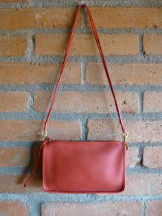 Vintage Coach Basic Bag Zippered Clutch Shoulder at HotCoolVintage on Etsy
