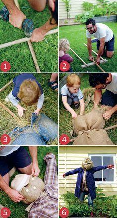 Diy Garden, Garden Crafts, Garden Projects, Garden Club, Summer Garden, Garden Ideas, Diy Projects, Make A Scarecrow, Scarecrow Ideas