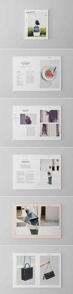 Like the visual layout of imagery and text. Clean and professional layout/design. Design Brochure, Graphic Design Layouts, Branding Design, Graphisches Design, Book Design, Cover Design, Editorial Design, Editorial Layout, Mise En Page Portfolio