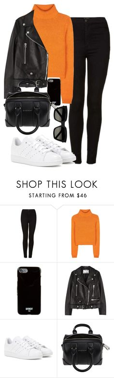 """""""Untitled #493"""" by anassantos ❤ liked on Polyvore featuring Topshop, Acne Studios, Givenchy, adidas and Yves Saint Laurent"""