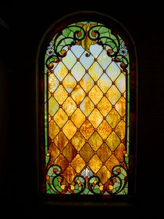 Tiffany Glass window at Winchester Mystery House by misty~bee, via Flickr