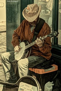 LOVE THIS banjo art