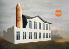 The fine idea, 1964 by Rene Magritte, Later Period. Surrealism. symbolic painting More Pins Like This At FOSTERGINGER @ Pinterest ♦️
