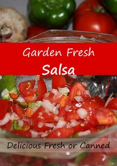 Garden Fresh Salsa – Garden to Plate in an Hour via @RobinFollette