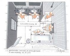 indeling vierkante badkamer met wc - Google Search
