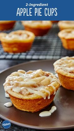 Yes, you can make tasty apple pie cups with just two ingredients that make enough servings to feed a crowd! All you need is a can of Pillsbury™ refrigerated cinnamon rolls and some apple pie filling. and a large scoop of ice cream to serve them with! Expert tip: Use a nonstick muffin pan for easiest removal. PS: Have you heard the good news? Pillsbury Cinnamon Rolls now have more icing (so this recipe is extra gooey and delicious)!