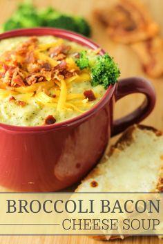 Broccoli Bacon Cheese Soup