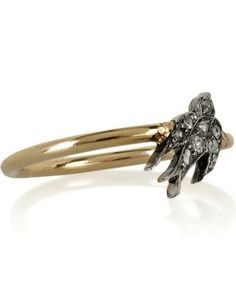 "annina vogel diamond ""swallow"" ring"