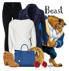 """""""Beast - Fall - Disney's Beauty and the Beast"""" by rubytyra ❤ liked on Polyvore featuring LE3NO, Yves Saint Laurent, rag & bone and Bling Jewelry"""