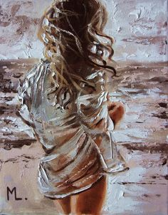 """Buy """" BY THE SEA . """" original painting SEA autumn palette knife GIFT, Oil painting by Monika Luniak on Artfinder. Discover thousands of other original paintings, prints, sculptures and photography from independent artists. Sexy Painting, Oil Painting On Canvas, Paintings For Sale, Original Paintings, Art Sketches, Art Drawings, Wal Art, Drawn Art, Portrait Art"""