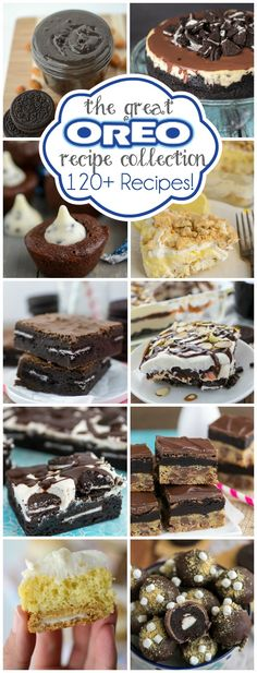 Over 120 Oreo recipes using your favorite cookie!