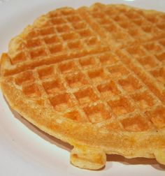 """Cheddar Cornbread Waffles Recipe.  Suggested as """"platform"""" for chili & cheese main-dish...would also be a GREAT platform for black-eyed peas (garnished with green onions for a little color)"""