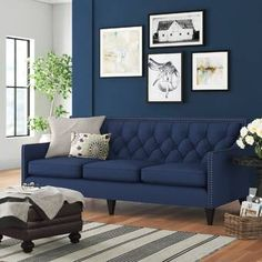 Mistana Gilmore Sofa & Reviews | Wayfair How To Clean Furniture, Sofa Home, Cushions On Sofa, Online Furniture, Cushion Covers, Living Room Furniture, Love Seat, Family Room, Upholstery