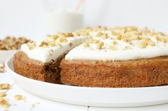 Healthy food list for kids diet free recipes Carrot Cake Cheesecake, Healthy Cheesecake, Blueberry Cheesecake, Yummy Snacks, Healthy Snacks, Yummy Food, Topping Cake, Vitamine B17, Healthy Carrot Cakes