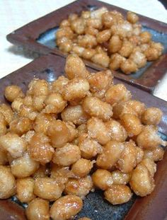 fried soy beans with corn flour Healthy Menu, Healthy Treats, Healthy Eating, Healthy Recipes, Good Food, Yummy Food, Fruit Snacks, Asian Recipes, Food To Make
