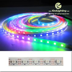 500cm WS-2811 Dream Color LED Strip Lights 300-LEDs IP67-waterproof DC-5V - Kiwi Lighting - Dream Color LED Strip Lights, WS 2811 IC, 500cm, 300 LEDs, 300 ICs, IP67 waterproof, DC 5v, white background,     + $74.99