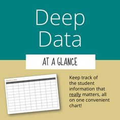 Deep Data at-a-Glance Chart Chart for non academic student info (allergies, interests, etc. Classroom Organisation, Classroom Management, Classroom Jobs, Teacher Organization, Class Management, Family Information, Student Information, Teacher Boards, Teacher Tools