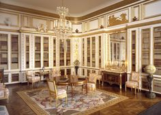 Louis XVI Library, miniature by Mulvany & Rogers