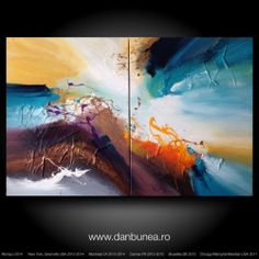 original living, energetic, vibrant, tonic, abstract landscape sunset painting