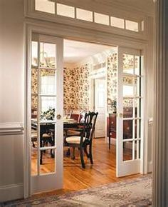 pocket french doors for library study dining room