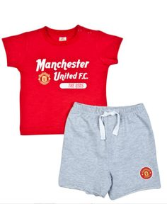 Manchester United Baby Boy T-Shirt  amp  Shorts Set. Perfect for the summer f3d6826f4