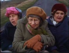 """Last of the Summer Wine (BBC) """"Nora, Pearl and Ivy"""" ( Kathy Staff, Judy Kaplan and Jane Freeman)"""