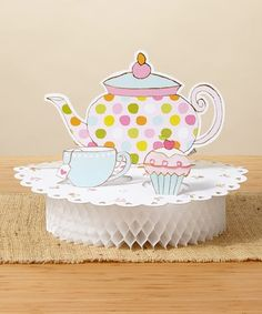 This Tea Time Centerpiece - Set of Two is perfect! #zulilyfinds