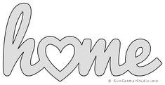 Stencil patterns templates - Home Heart Pattern, Template, Stencil, Printable Word Art Design – Stencil patterns templates Word Stencils, Wall Stencil Patterns, Free Stencils, Stencil Designs, Printable Stencil Patterns, Craft Stencils, Damask Stencil, Painting Patterns, String Art Templates