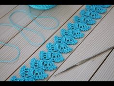 Crochet Table Runner Pattern, Crochet Edging Patterns, Crochet Lace Edging, Crochet Borders, Lace Patterns, Easy Crochet, Free Crochet, Knit Crochet, Border Pattern
