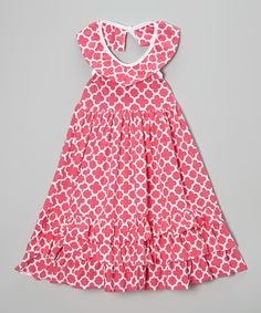 Every+mini+miss's+wardrobe+needs+plenty+of+ruffles!+Made+from+comfy+cotton+with+a+stylish+pattern,+this+girly+dress+features+a+roomy+skirt+that+gives+little+legs+lots+of+room+to+move.
