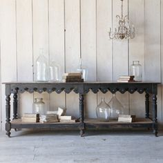 Eloquence One of a Kind Antique Display Table Black FETVP05110
