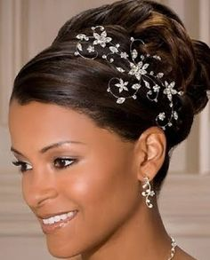 Beautiful African American Wedding Updo Hairstyles #weddings #hawaiiprincessbrides