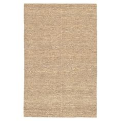 Anchor your dining set or living room seating group in natural style with this hand-woven jute rug, showcasing a beige hue for understated appeal.